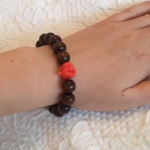 Jewelry - SALE! Boho Buddha Wooden Beaded Stretch Bracelet